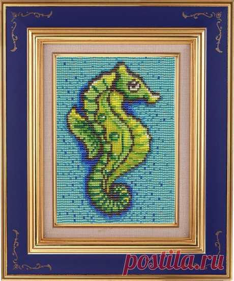 """Схема для ткачества бисером """"Морской конёк""""   biser.info - всё о бисере и бисерном творчестве"""