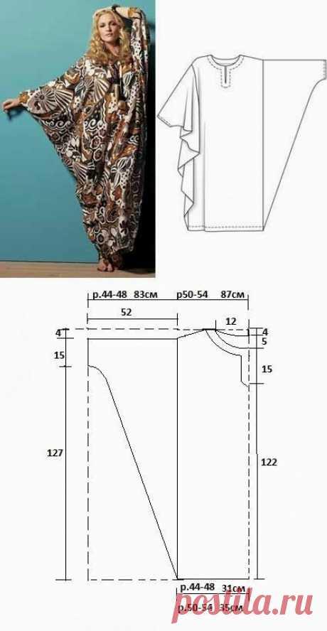 Выкройка бохо платья / Простые выкройки / ВТОРАЯ УЛИЦА - Выкройки, мода и современное рукоделие и DIY