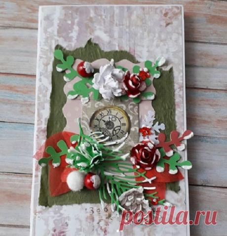 Как сделать Новогодние и Рождественские открытки своими руками