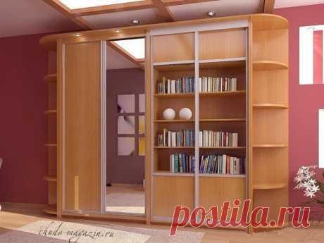 Шкаф-купе библиотека на заказ купить по цене 74 000 руб. в Москве— интернет магазин chudo-magazin.ru