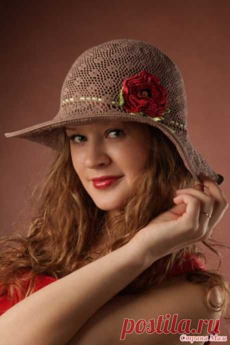 We knit a safari hat from balashovy Olga (The country of Mothers - online).
