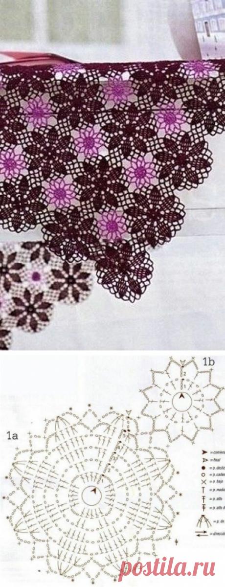 Красивый мотив для вязания