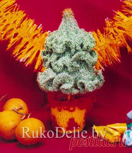 Вязаная спицами елочка в горшочке :: Игрушки :: Вязание спицами/Knitted toys :: RukoDelie.by