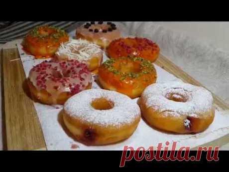 Пончики Донатс!   Простой рецепт нежнейших пончиков! - YouTube