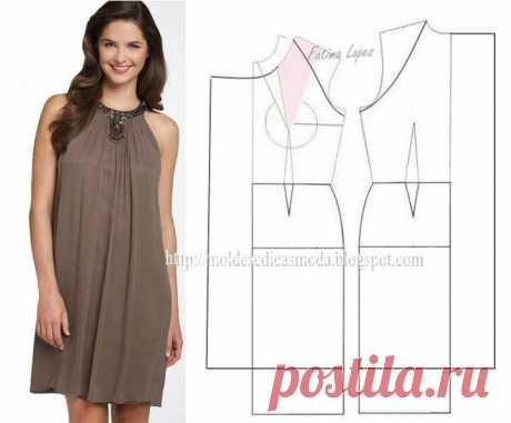 Платье+выкройка | Тысяча и одна идея Много вариантов, думаю пригодится! Платье+выкройка.