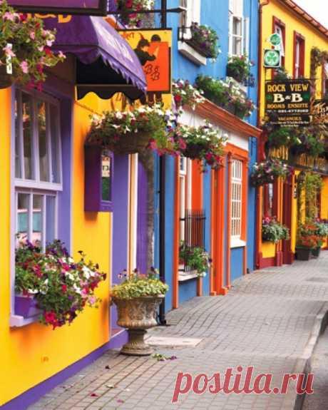 Фантазия цвета. Живописные улицы Корка, Ирландия