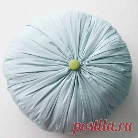 Круглая подушка в складку: мастер-класс — Мастер-классы на BurdaStyle.ru