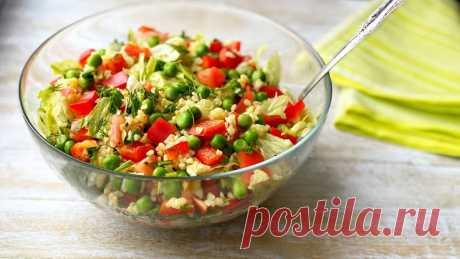 Салат с булгуром и овощами - полезный и легкий ужин | Марусина Кухня | Яндекс Дзен