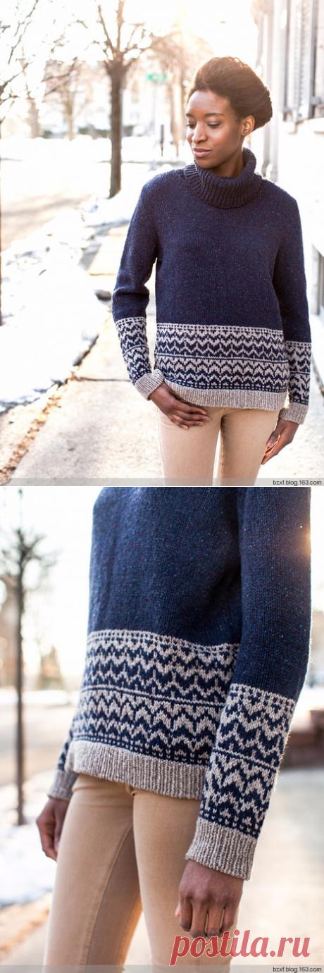 Свитер Adara Brooklyn Tweed WINTER 2013 (схема жаккарда).