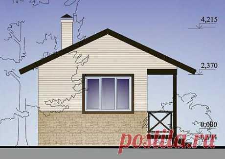 Проект садового домика 20.6 м2. Чертежи