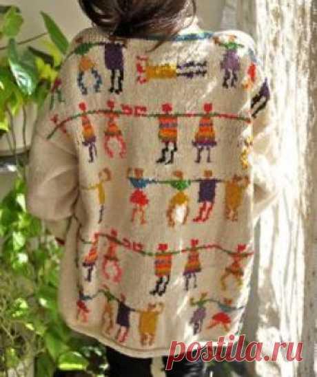 Dancing Rainbow Figures Sweater от PrismOfThreads на Etsy
