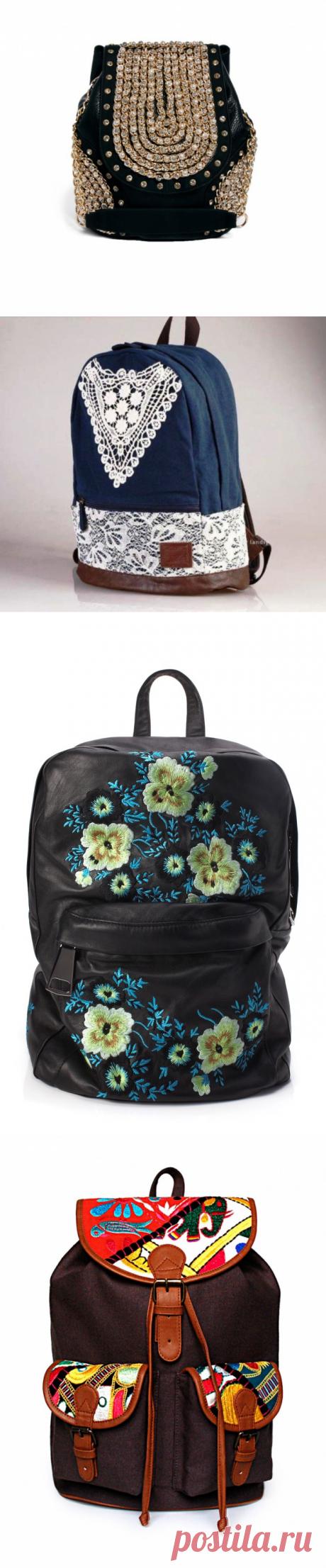 Рюкзаки с декором (подборка) / Сумки, клатчи, чемоданы / ВТОРАЯ УЛИЦА