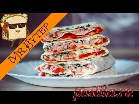 Трехэтажный бутерброд в лаваше - Простые рецепты Овкусе.ру