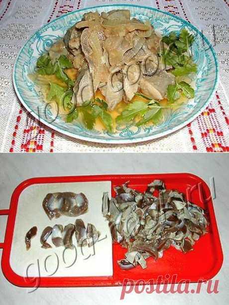 Хорошая кухня - острая закуска из куриных желудков. Кулинарная книга рецептов. Салаты, выпечка.