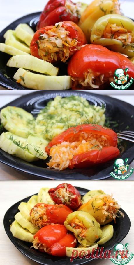 Квашеные фаршированные перцы по-великолукски – кулинарный рецепт