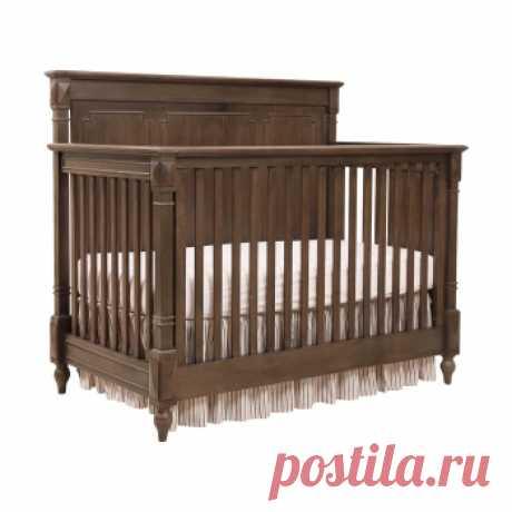 Кровать детская Gracia Коричневая с матрасом 120х60. Дизайнерские кровати купить в Москве - элитные кровати премиум класса, цена в интернет-магазине ForestGum