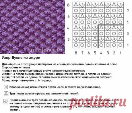 букле узор спицами схема: 10 тыс изображений найдено в Яндекс.Картинках