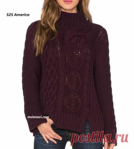 Вязаный свитер с разрезами | Вяжем с Лана Ви