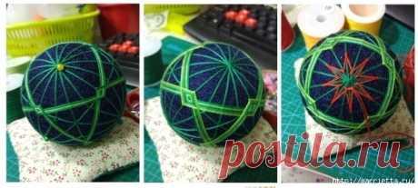 Красивый яркий шар Темари — DIYIdeas