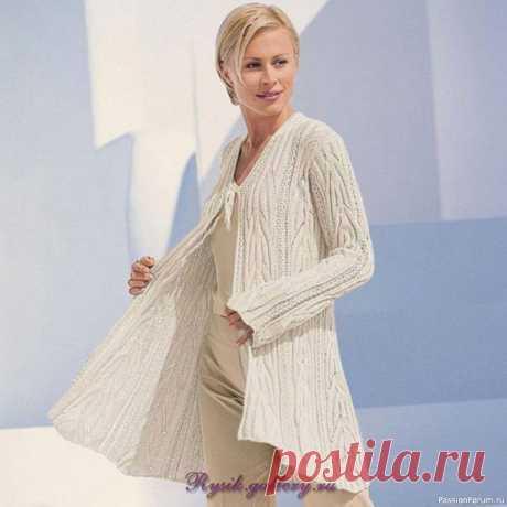 Элегантный и стильный кардиган | Вязание для женщин спицами. Схемы вязания спицами
