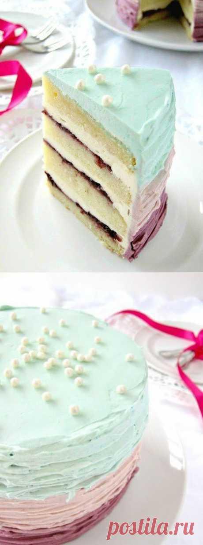 Ванильно-ежевичный праздничный торт | Вкуснолог...