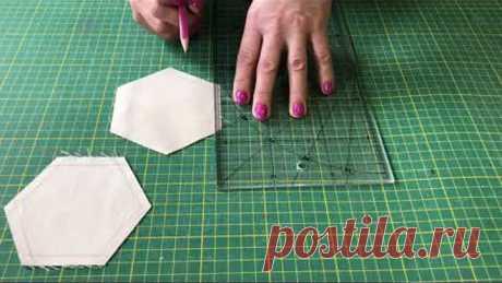 Как сшить топ из шестиугольников на швейной машинке точно и качественно .