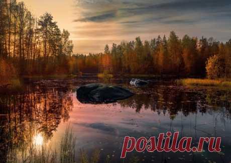 Река Вуокса на рассвете, Карельский перешеек. Автор фото – Михаил Александров: nat-geo.ru/community/user/199920/.