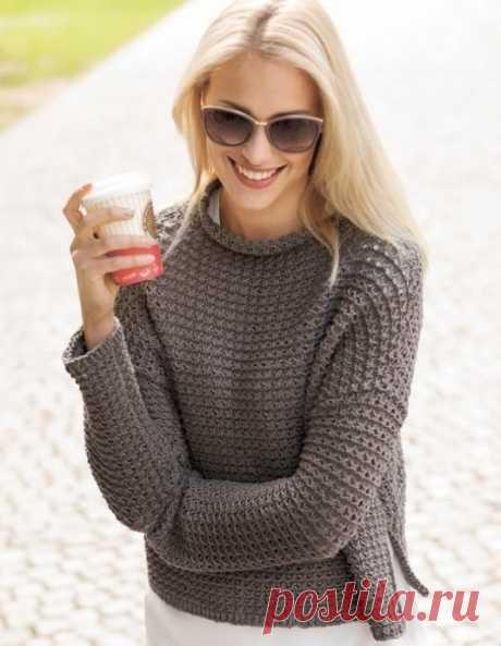 Милый укороченный джемпер для женщин из категории Интересные идеи – Вязаные идеи, идеи для вязания
