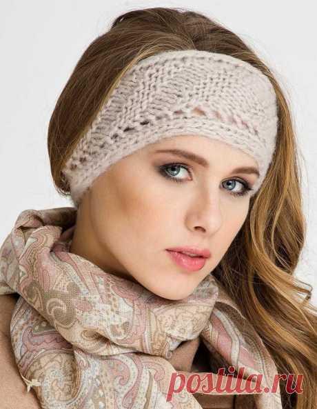 Повязка на голову вязаная спицами: 150 фото примеров как связать ободок на голову своими руками
