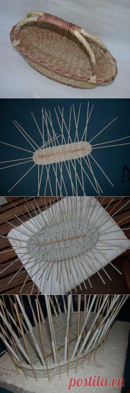 Плетем корзинки из газетных трубочек