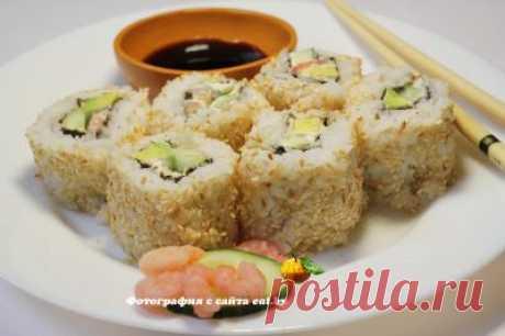 Урамаки-суши с кунжутом и креветками -  рецепт, фото, как приготовить вкусно, быстро и просто. | eat.by