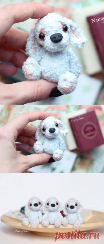 Голубой щенок амигуруми схема игрушки крючком   AmiguRoom