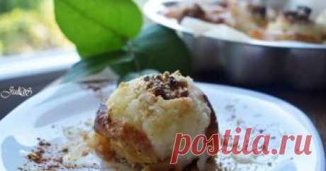 Яблоки запеченные с мёдом и орехами в духовке Автор рецепта Юлия Сухая Классный рецепт - Яблоки запеченные с мёдом и орехами в духовке!