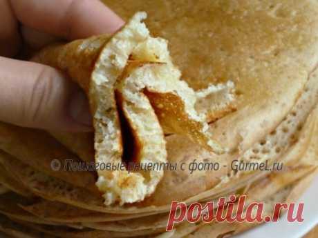Los crepes tártaros con levadura (tbikmk). La receta de la foto. Las fotografías poshagovye. Gurmel