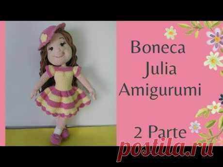 Boneca Julia - Amigurumi Sem Costura - Mão Esquerda (Parte 2)