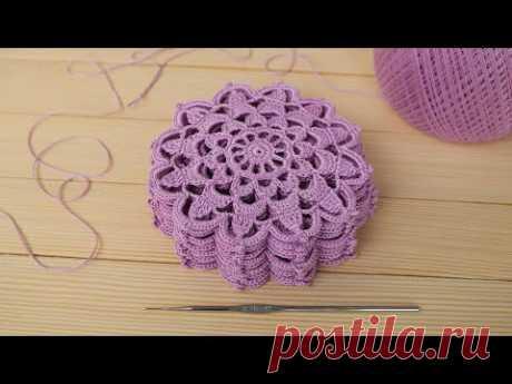 Вязание крючком ПРОСТОЙ КРУГЛЫЙ МОТИВ  мастер-класс CROCHET lace motif patterns