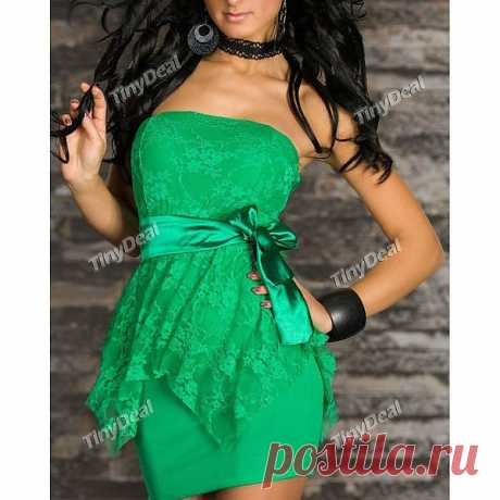 Party Strapless Sexy Elegant Dresses for Women Girl Ladies NWO-163329 - TinyDeal