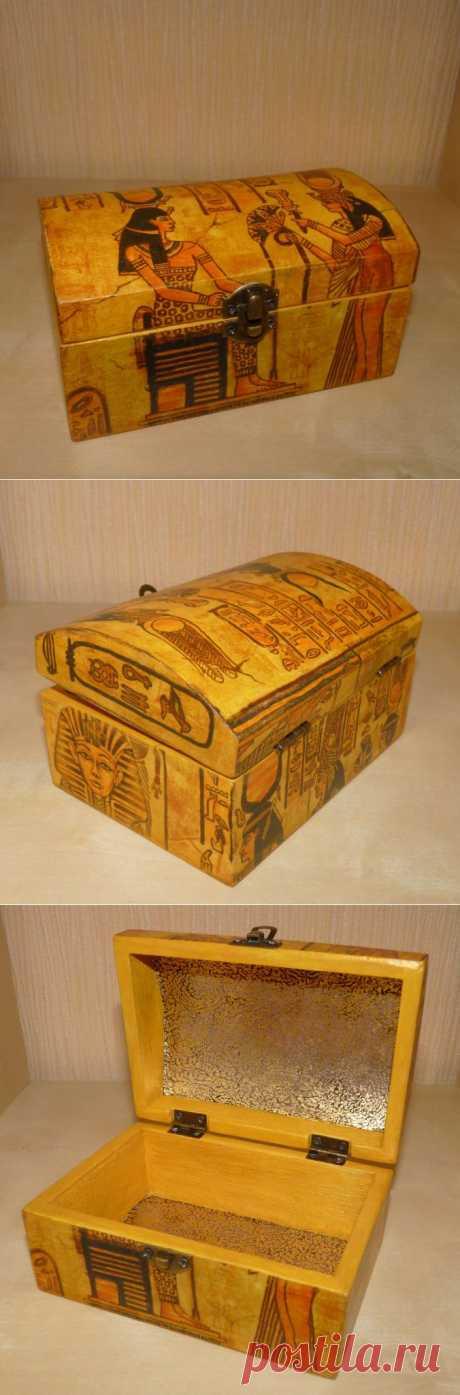 (+1) тема - Шкатулочка Египет в подарок | СДЕЛАЙ САМ!