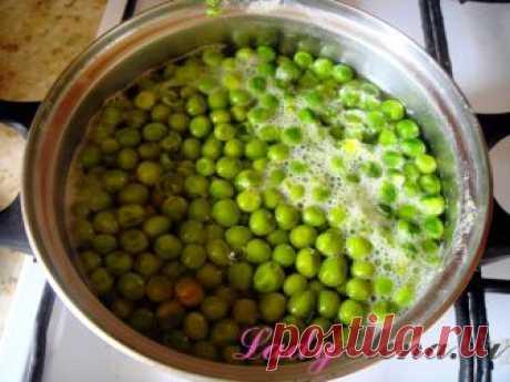 Горошек на зиму в домашних условиях - консервирование зеленого горошка