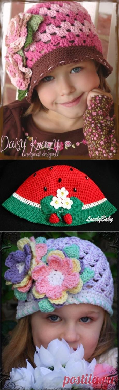 Caps, hats and panama: Knit crochet ~ DIY Tutorial Ideas!