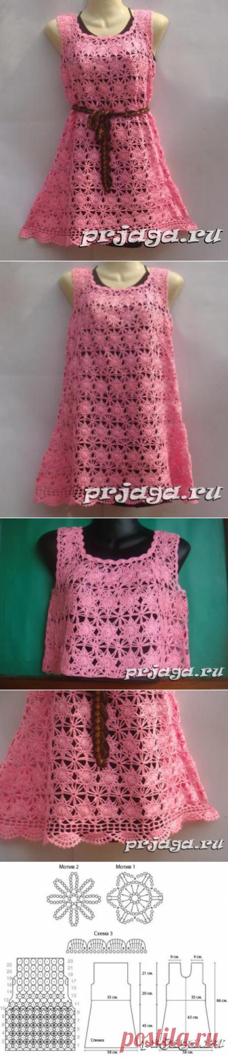 Платья крючком схемы от Nako