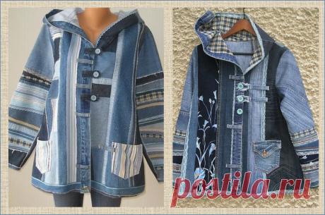 Новая жизнь старых джинсов - осенние плащи и утепленные курточки - 35 моделей | МНЕ ИНТЕРЕСНО | Яндекс Дзен