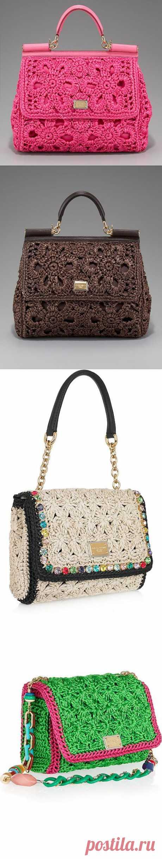 Сумочки крючком от Dolce&Gabbana