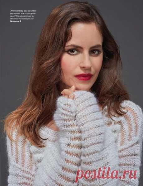 Воздушный полупрозрачный пуловер (Вязание спицами) – Журнал Вдохновение Рукодельницы