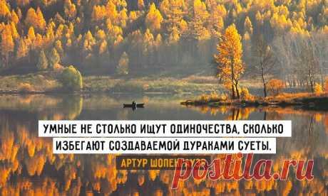 Кто не любит одиночества — тот не любит свободы.