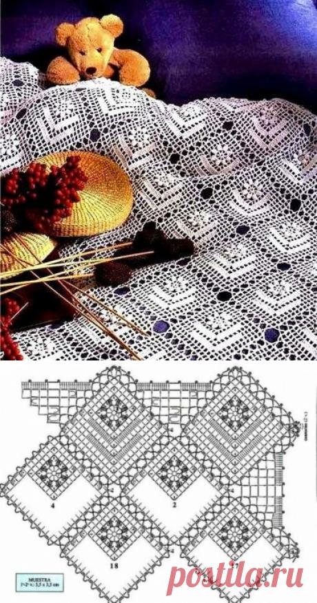 Нежный ажур из мотивов: вяжем крючком салфетки и скатерти | Левреткоман-оч.умелец | Яндекс Дзен