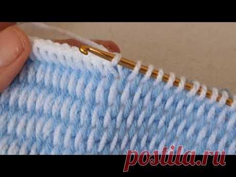 Görünce hemen deneyeceksiniz çok kolay Tunus işi örgü modeli crochet