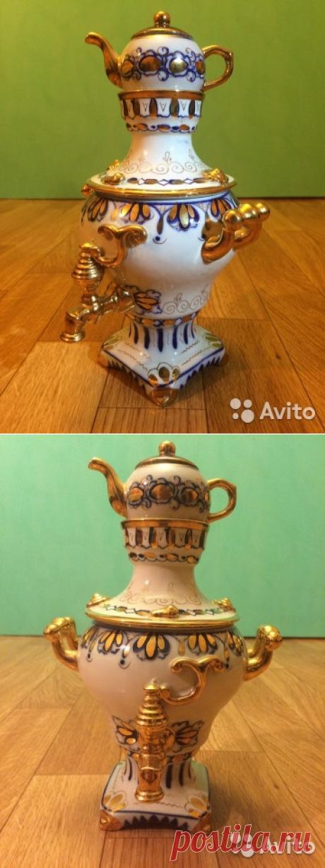 Гжель самовар(времён СССР) купить в Москве на Avito — Объявления на сайте Avito