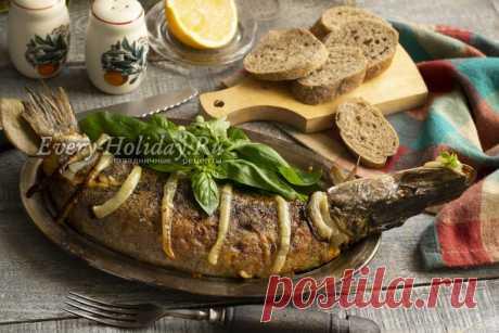 Фаршированная щука в духовке целиком, рецепт с фото
