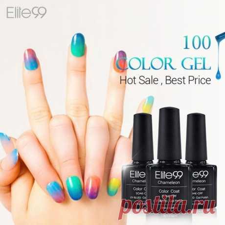 Elite99 хамелеон изменение температуры цвет уф гель лак профессиональный выбор красоты помочь , от ногтей из светодиодов выбрать цвет 1 из 58 купить на AliExpress